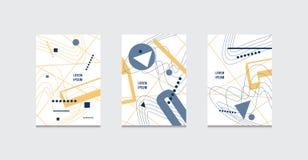 Διανυσματικό σύνολο αποθεμάτων αφηρημένων καλύψεων προτύπων φυλλάδιων Στοκ Εικόνες