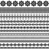 Διανυσματικό σύνολο ασιατικών βουρτσών απεικόνιση αποθεμάτων