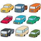 Διανυσματικό σύνολο αυτοκινήτων Στοκ εικόνα με δικαίωμα ελεύθερης χρήσης