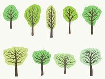 Διανυσματικό σύνολο δέντρων Στοκ φωτογραφίες με δικαίωμα ελεύθερης χρήσης