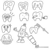 Διανυσματικό σύνολο δοντιών Στοκ εικόνες με δικαίωμα ελεύθερης χρήσης