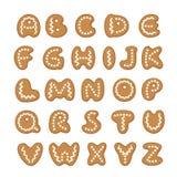 Διανυσματικό σύνολο επιστολών μπισκότων μελοψωμάτων απεικόνιση αποθεμάτων