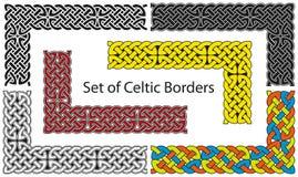 Διανυσματικό σύνολο κελτικού στυλ συνόρων διανυσματική απεικόνιση