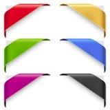 Διανυσματικό σύνολο κορδελλών χρώματος γωνιών Στοκ φωτογραφία με δικαίωμα ελεύθερης χρήσης