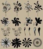 Διανυσματικό σύνολο λουλουδιών Στοκ φωτογραφία με δικαίωμα ελεύθερης χρήσης