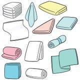Διανυσματικό σύνολο πετσέτας Στοκ φωτογραφία με δικαίωμα ελεύθερης χρήσης