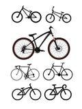 Διανυσματικό σύνολο ποδηλάτων Στοκ Φωτογραφίες