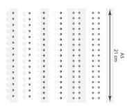 Διανυσματικό σύνολο ρεαλιστικών εικόνων των άσπρων σπειρών για ένα σημειωματάριο στοκ φωτογραφία
