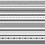 Διανυσματικό σύνολο στριμμένων και κυματιστών βουρτσών 2 ελεύθερη απεικόνιση δικαιώματος