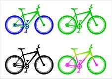 Διανυσματικό σύνολο συμβόλων ποδηλάτων Ελεύθερη απεικόνιση δικαιώματος