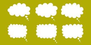 Διανυσματικό σύνολο συρμένων χέρι λεκτικών φυσαλίδων Κενές κενές άσπρες λεκτικές φυσαλίδες Σχέδιο λέξης μπαλονιών κινούμενων σχεδ διανυσματική απεικόνιση