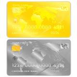 Διανυσματικό σύνολο σχεδίων ενός άσπρου υποβάθρου τραπεζικών καρτών απεικόνιση αποθεμάτων