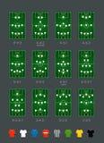 Διανυσματικό σύνολο σχηματισμών ποδοσφαίρου Στοκ εικόνα με δικαίωμα ελεύθερης χρήσης
