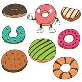 Διανυσματικό σύνολο doughnut Στοκ φωτογραφίες με δικαίωμα ελεύθερης χρήσης