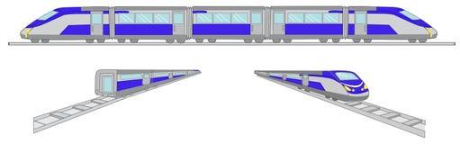 Διανυσματικό σύνολο απεικόνισης τραίνων Στοκ φωτογραφία με δικαίωμα ελεύθερης χρήσης