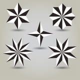 Διανυσματικό σύνολο αστεριών Στοκ Εικόνα