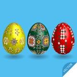 Διανυσματικό σύνολο αυγών Πάσχας Στοκ Φωτογραφία