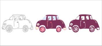 Διανυσματικό σύνολο αυτοκινήτων κινούμενων σχεδίων Στοκ Φωτογραφίες