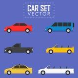Διανυσματικό σύνολο αυτοκινήτων Απεικόνιση αποθεμάτων