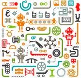 Διανυσματικό σύνολο αφηρημένων βιομηχανικών στοιχείων διανυσματική απεικόνιση