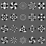 Διανυσματικό σύνολο αφηρημένων γεωμετρικών στοιχείων και συμβόλων ελεύθερη απεικόνιση δικαιώματος