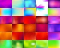 Διανυσματικό σύνολο αφηρημένων ζωηρόχρωμων θολωμένων υποβάθρων Στοκ φωτογραφία με δικαίωμα ελεύθερης χρήσης