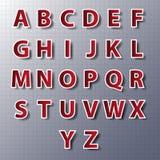 Διανυσματικό σύνολο αλφάβητου, έγγραφο, αυτοκόλλητες ετικέττες, ετικέτες, ετικέττες Vector/EPS10 Στοκ Εικόνα