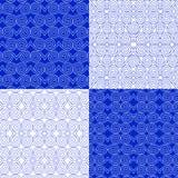 Διανυσματικό σύνολο εθνικών γεωμετρικών σχεδίων Ανατολικό διακοσμητικό ύφος ελεύθερη απεικόνιση δικαιώματος