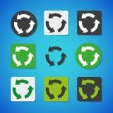 Διανυσματικό σύνολο εικονιδίων ανακύκλωσης ελεύθερη απεικόνιση δικαιώματος