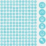 Διανυσματικό σύνολο εικονιδίων για τον Ιστό και το ενδιάμεσο με τον χρήστη Στοκ Εικόνες