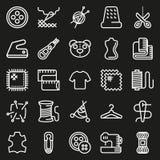 Διανυσματικό σύνολο εικονιδίων εξοπλισμού ραψίματος Στοκ φωτογραφίες με δικαίωμα ελεύθερης χρήσης
