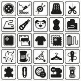 Διανυσματικό σύνολο εικονιδίων εξοπλισμού ραψίματος Στοκ Φωτογραφία