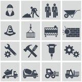 Διανυσματικό σύνολο εικονιδίων κατασκευής Στοκ φωτογραφία με δικαίωμα ελεύθερης χρήσης