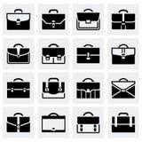 Διανυσματικό σύνολο εικονιδίων χαρτοφυλάκων απεικόνιση αποθεμάτων