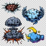 Διανυσματικό σύνολο εικονιδίων comics χρώματος Στοκ Φωτογραφίες