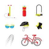 Διανυσματικό σύνολο εξοπλισμού ποδηλάτων Στοκ Φωτογραφία