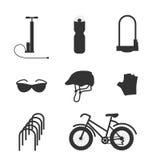 Διανυσματικό σύνολο εξοπλισμού ποδηλάτων Στοκ φωτογραφία με δικαίωμα ελεύθερης χρήσης