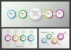 Διανυσματικό σύνολο ζωηρόχρωμου προτύπου infographics με τα βήματα, επιλογές Στοκ φωτογραφία με δικαίωμα ελεύθερης χρήσης