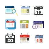 Διανυσματικό σύνολο ημερολογιακών εικονιδίων απεικόνιση αποθεμάτων