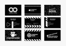 Διανυσματικό σύνολο δημιουργικών επαγγελματικών καρτών Στοκ Εικόνες