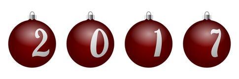 Διανυσματικό σύνολο διακοσμητικών σφαιρών Χριστουγέννων Στοκ Εικόνες