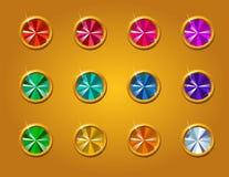 Διανυσματικό σύνολο διαμαντιών Στοκ φωτογραφία με δικαίωμα ελεύθερης χρήσης