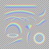Διανυσματικό σύνολο διαφορετικού ρεαλιστικού διαφανούς Στοκ εικόνες με δικαίωμα ελεύθερης χρήσης