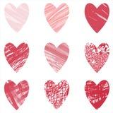 Διανυσματικό σύνολο καρδιών διανυσματική απεικόνιση