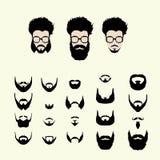 Διανυσματικό σύνολο κουρέματος ύφους hipster, γυαλιά Στοκ εικόνες με δικαίωμα ελεύθερης χρήσης