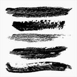 Διανυσματικό σύνολο κτυπημάτων βουρτσών grunge Στοιχείο για το σχέδιο Stro μελανιού Στοκ φωτογραφία με δικαίωμα ελεύθερης χρήσης