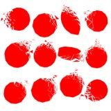 Διανυσματικό σύνολο κόκκινων σπασμένων μορφών Στοκ Φωτογραφία