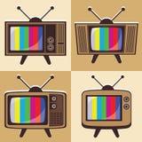Διανυσματικό σύνολο κλασικής τηλεόρασης 2 ελεύθερη απεικόνιση δικαιώματος