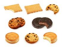 Διανυσματικό σύνολο μπισκότων διανυσματική απεικόνιση