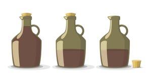 Διανυσματικό σύνολο μπουκαλιών κρασιού απεικόνιση αποθεμάτων